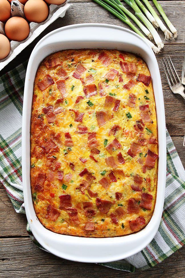 Eggs And Potato Breakfast Casserole  Bacon Potato and Egg Casserole