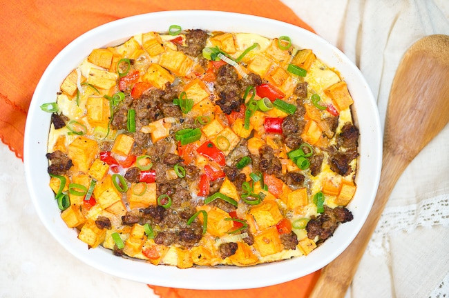 Eggs And Potato Breakfast Casserole  Sweet Potato Sausage and Egg Breakfast Casserole Paleo