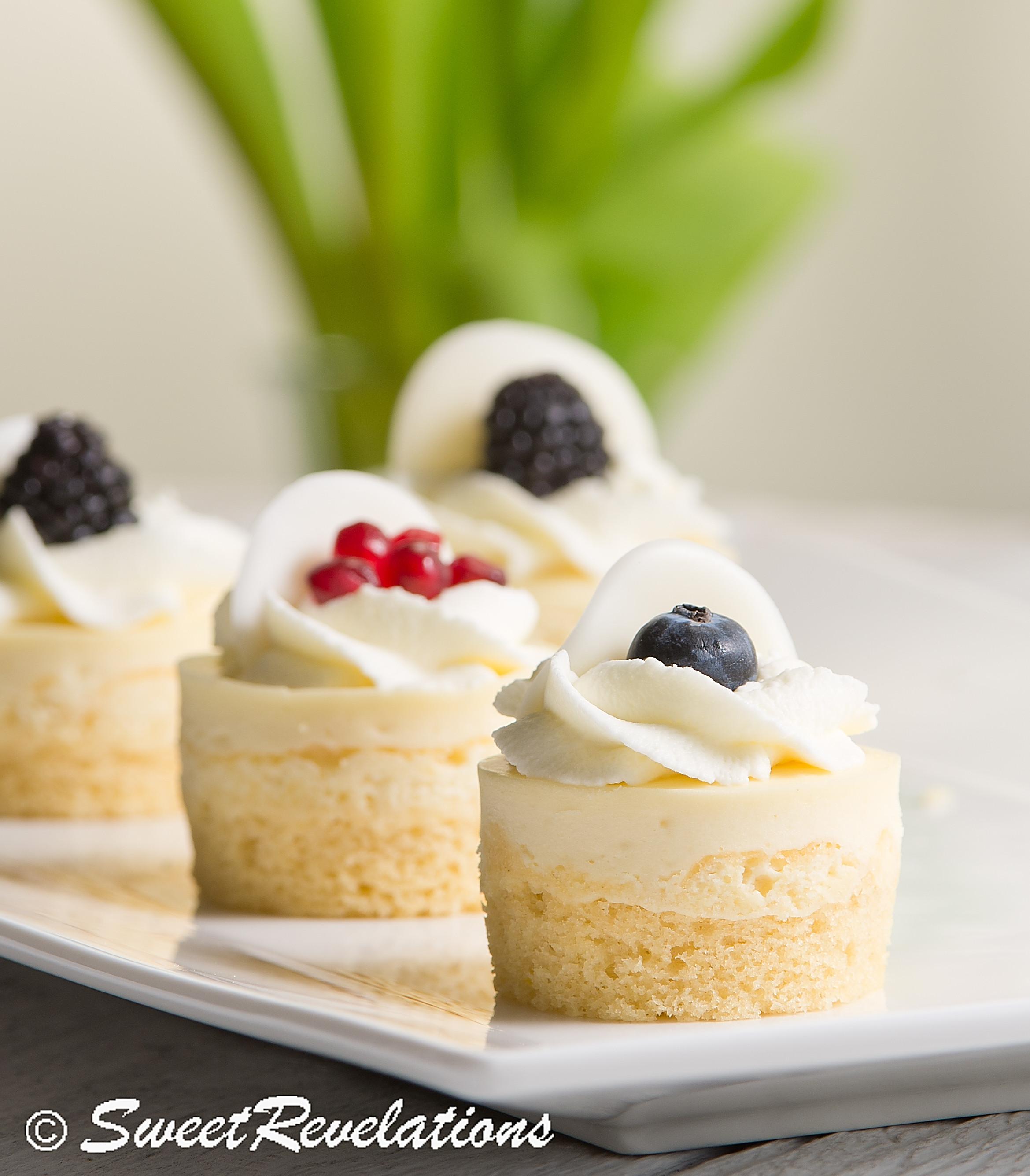 Elegant Dessert Recipes  Mini Lemon Sponge Cheesecakes