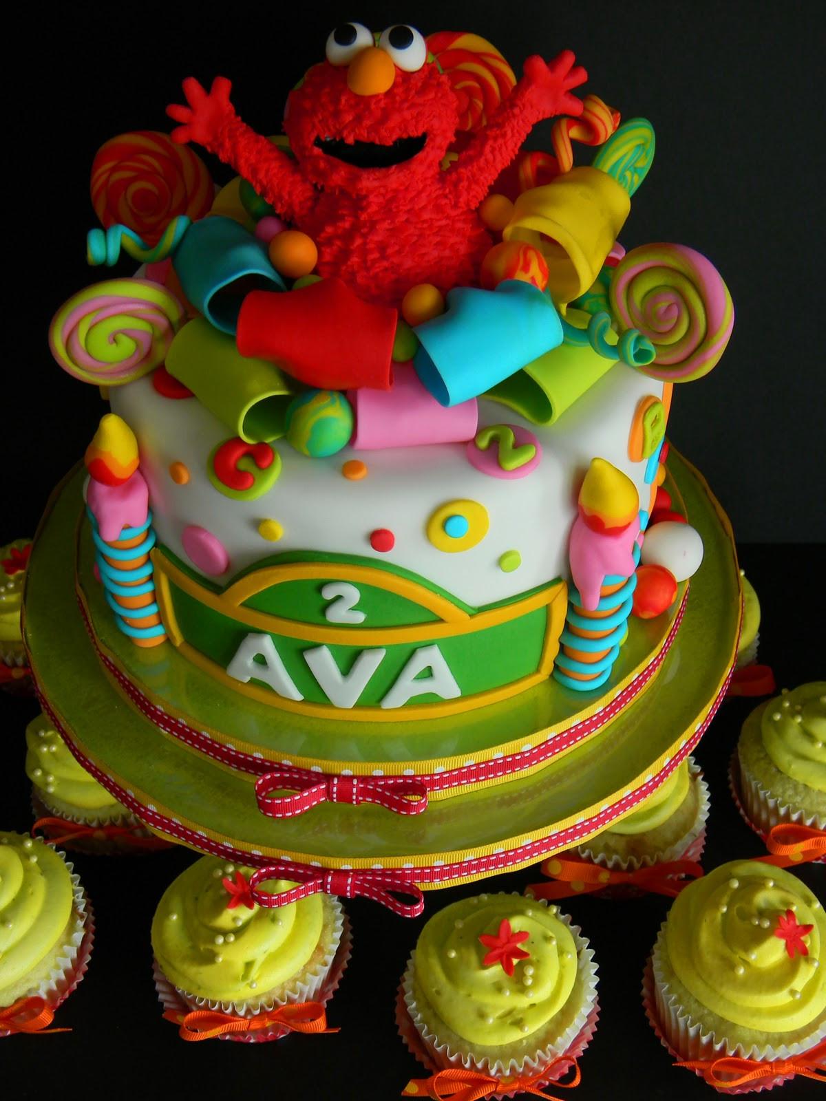 Elmo Birthday Cake  Couture Cakes by Angela Elmo Suprise