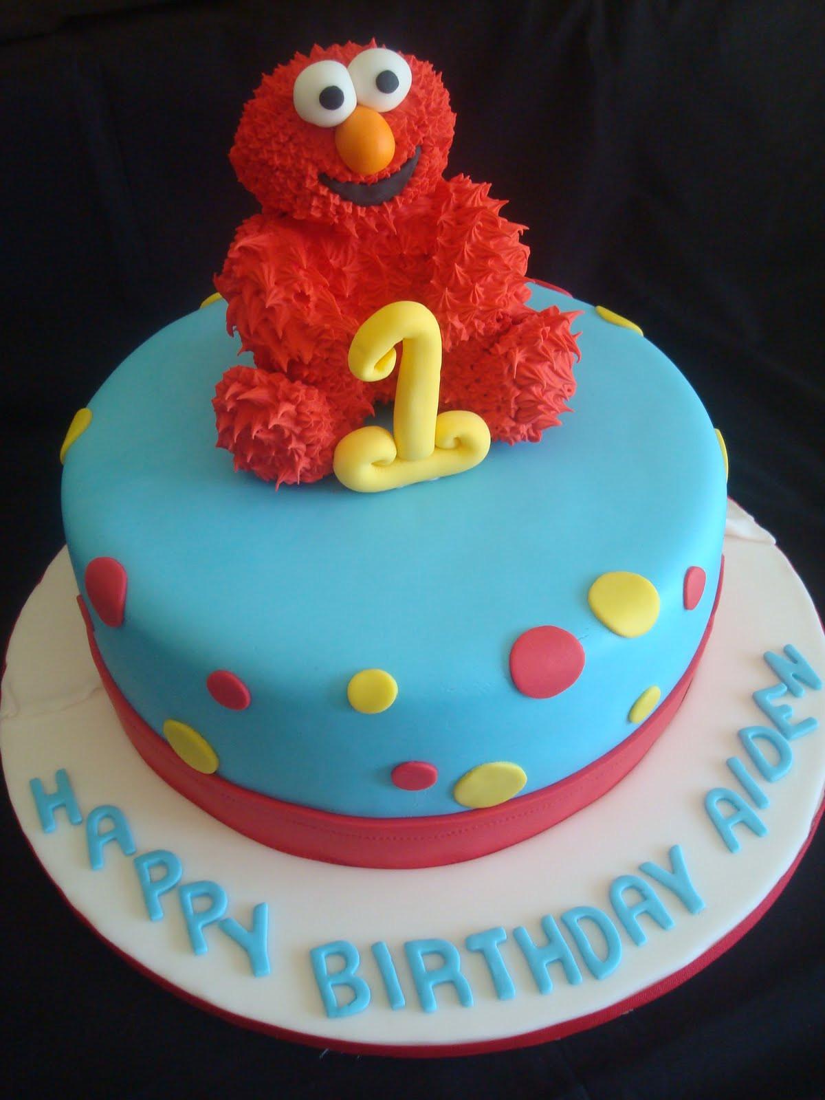 Elmo Birthday Cake  Pink Little Cake Elmo Cake Elmo Cookie Favors and Mini
