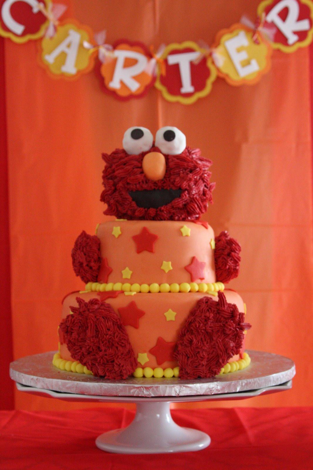 Elmo Birthday Cake  Melinda Makes Cake Sesame Street Elmo Cake