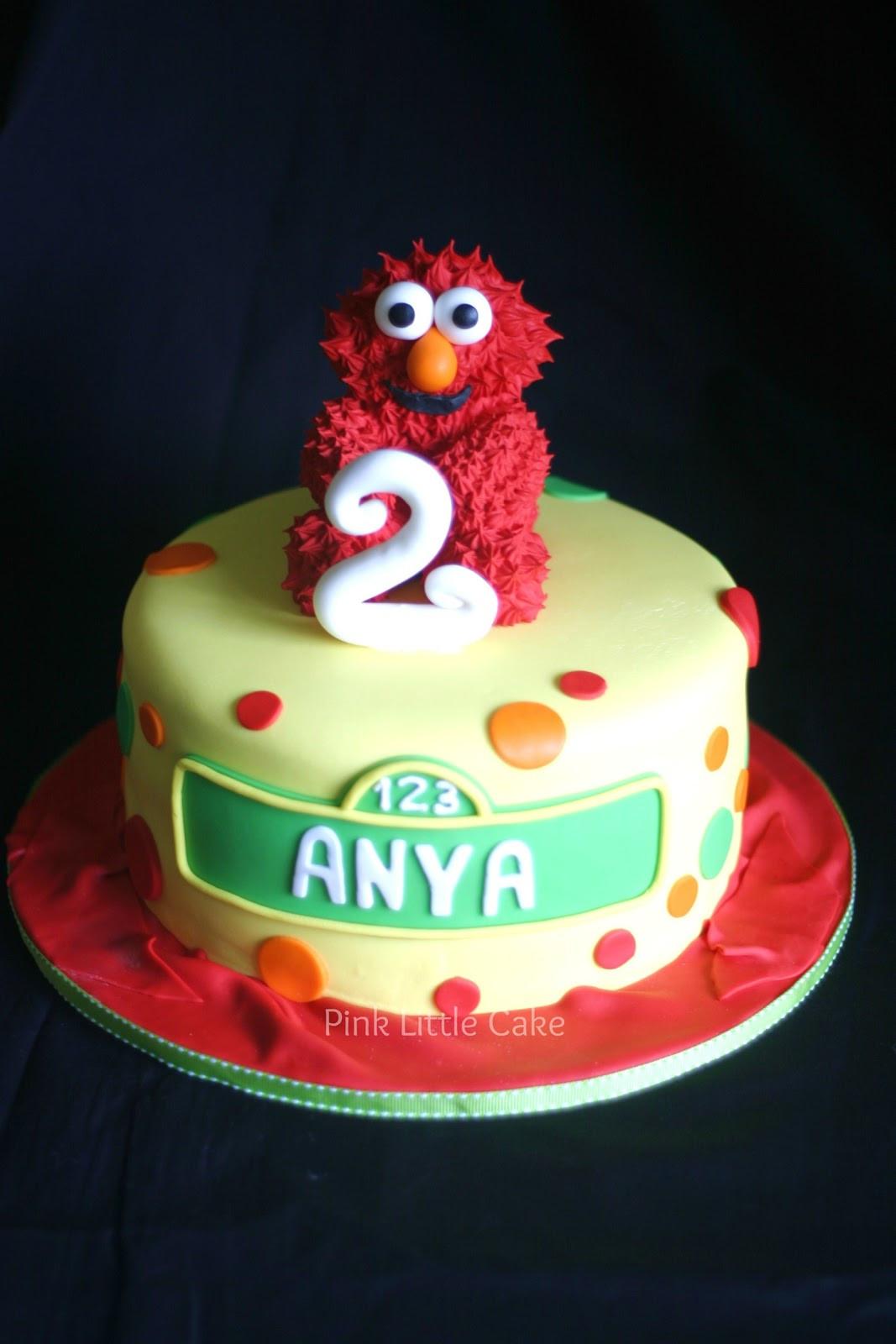 Elmo Birthday Cake  Pink Little Cake Small Elmo Cake