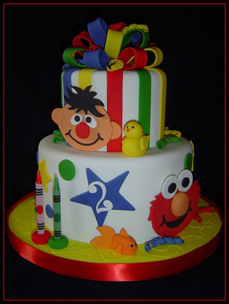 Elmo Birthday Cake  2nd Birthday Elmo cake