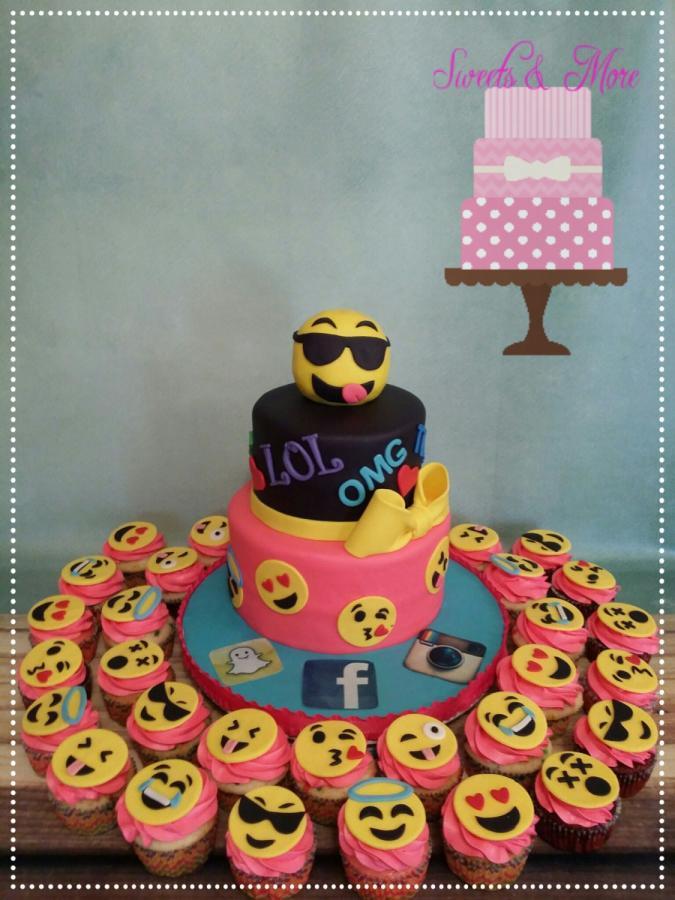 Emoji Birthday Cake  emoji cake cake by sweetsnmore CakesDecor