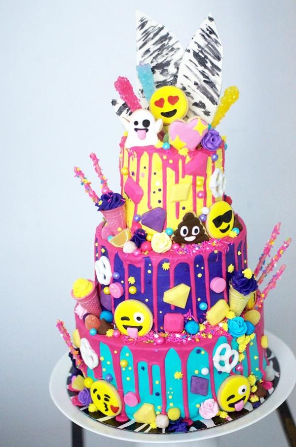 Emoji Birthday Cake  30 Emoji Birthday Party Ideas Pretty My Party