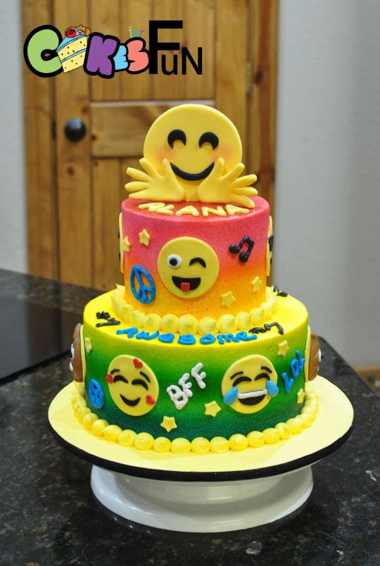 Emoji Birthday Cake  Emoji Birthday Cake cake by Cakes For Fun CakesDecor