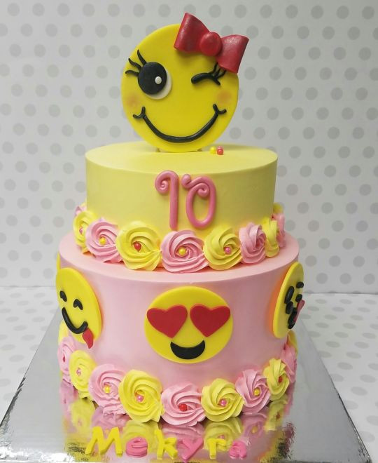 Emoji Birthday Cake  Emoji cake cake by Pastry Bag Cake Co CakesDecor