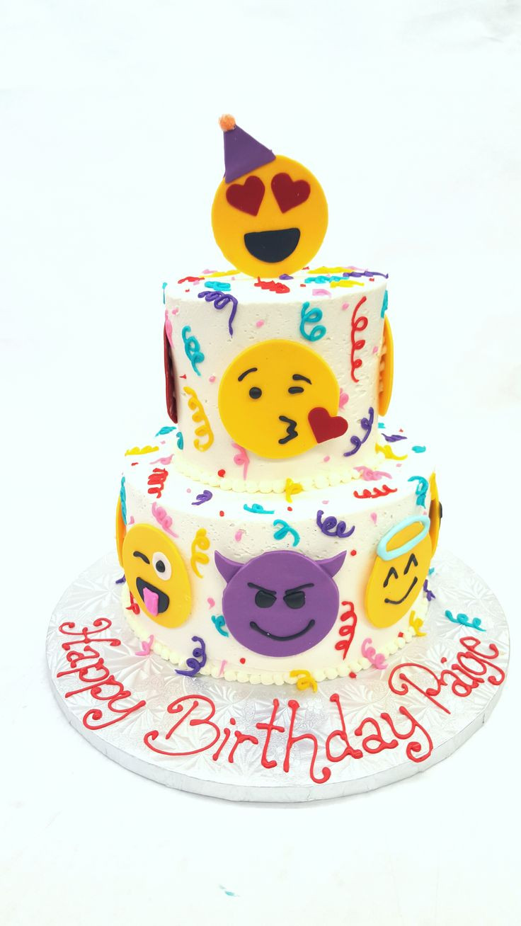 Emoji Birthday Cake  Southern Blue Celebrations EMOJI CAKES