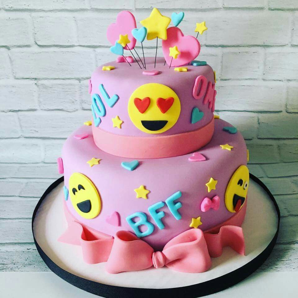 Emoji Birthday Cake  Emoticons Cakes Birthday Pinterest