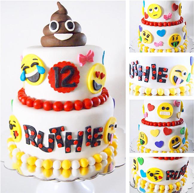Emoji Birthday Cake  The Best Emoji Party Cakes & Desserts