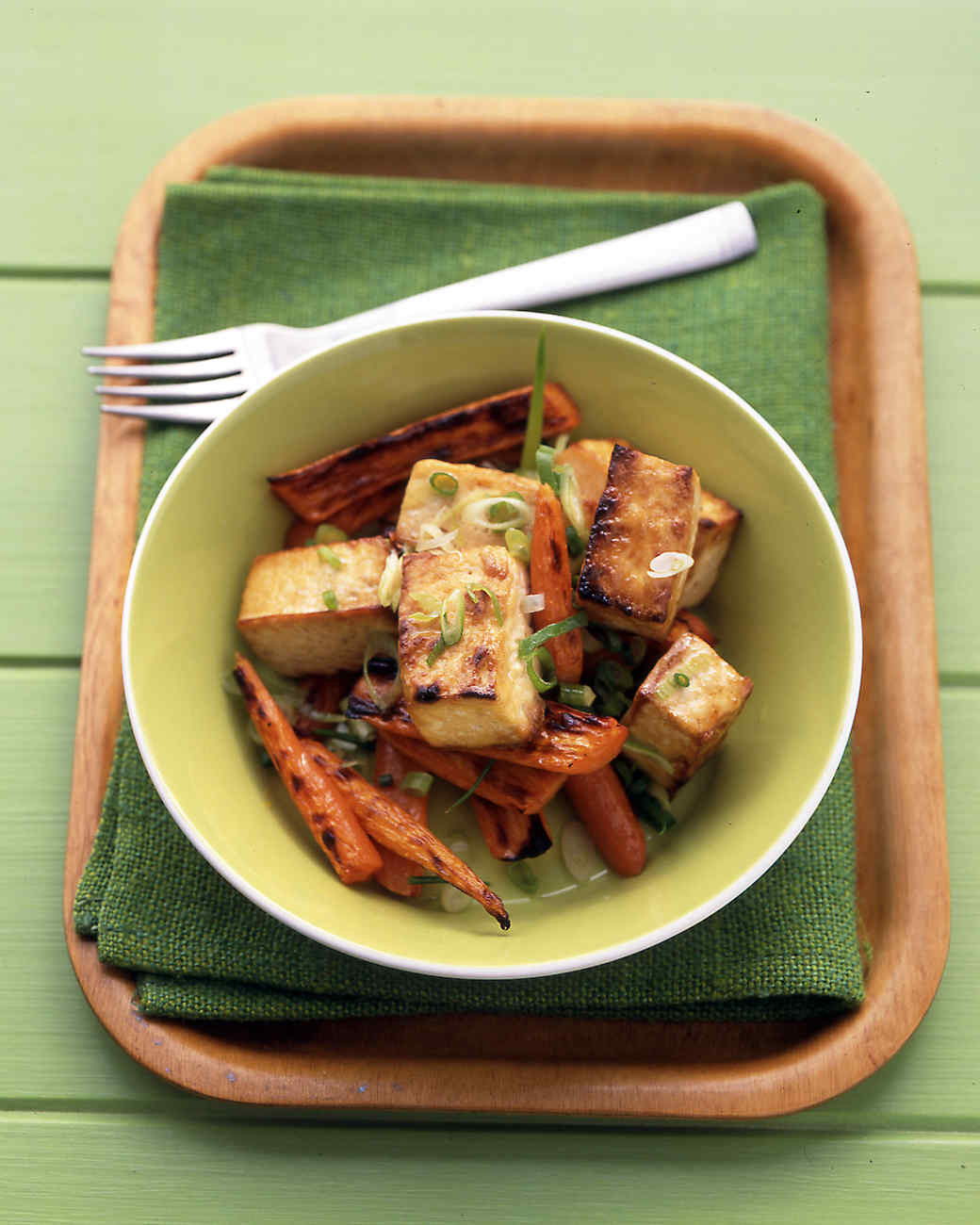 Extra Firm Tofu Recipes  Soy Glazed Tofu and Carrots Recipe from Everyday Food