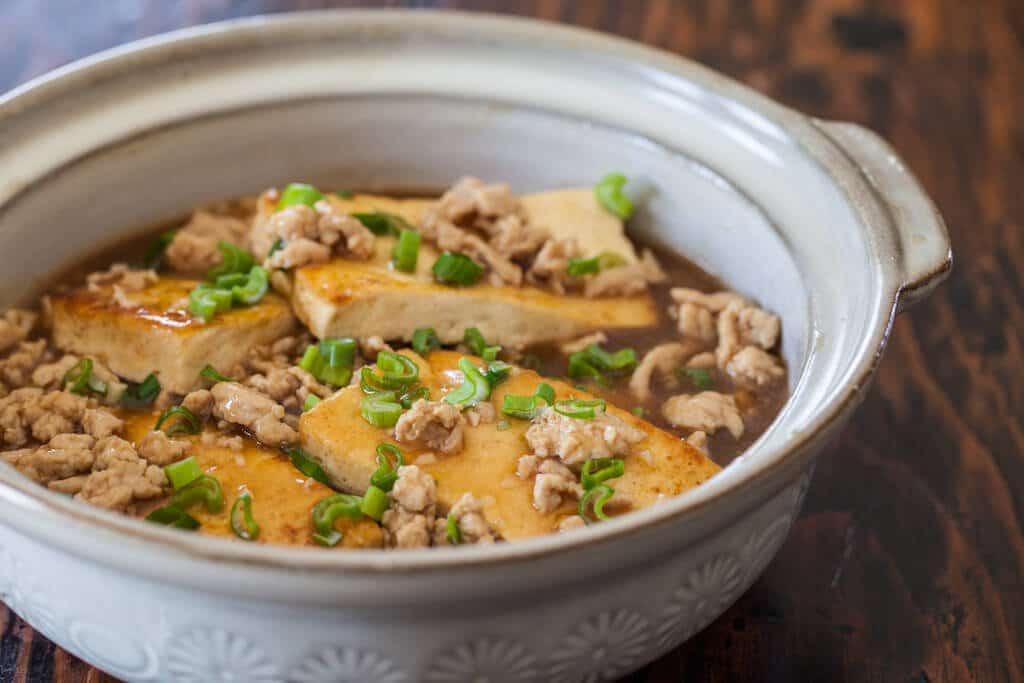 Extra Firm Tofu Recipes  Braised Tofu with Ground Pork Steamy Kitchen Recipes