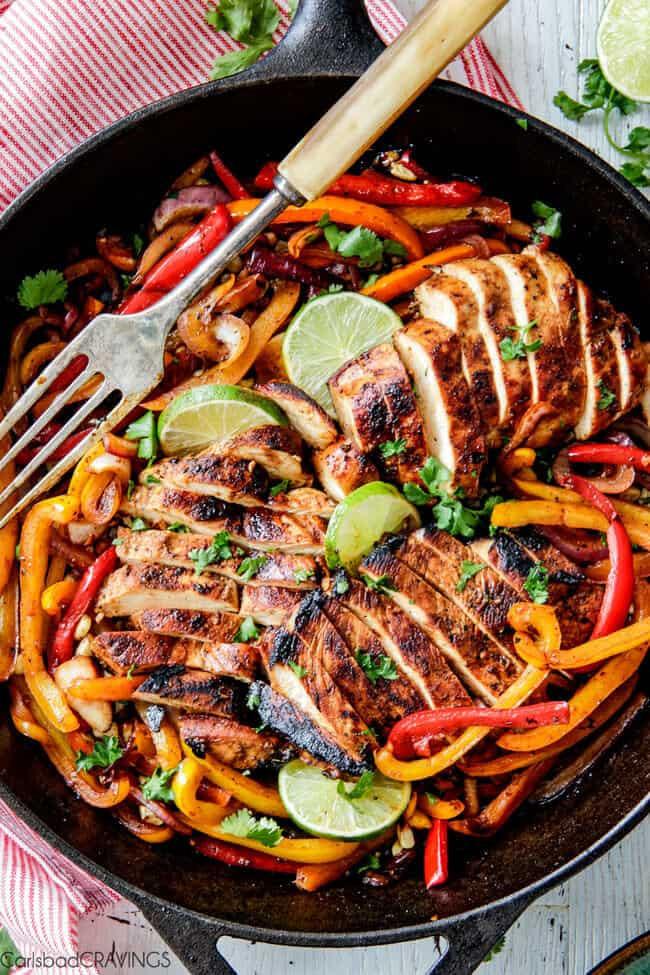 Fajitas Recipe Chicken  The BEST Chicken Fajitas with Chipotle Lime Crema