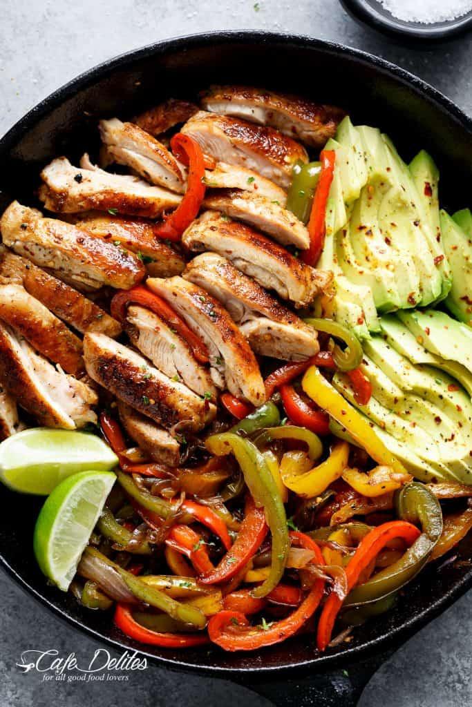 Fajitas Recipe Chicken  Best Chicken Fajitas Cafe Delites