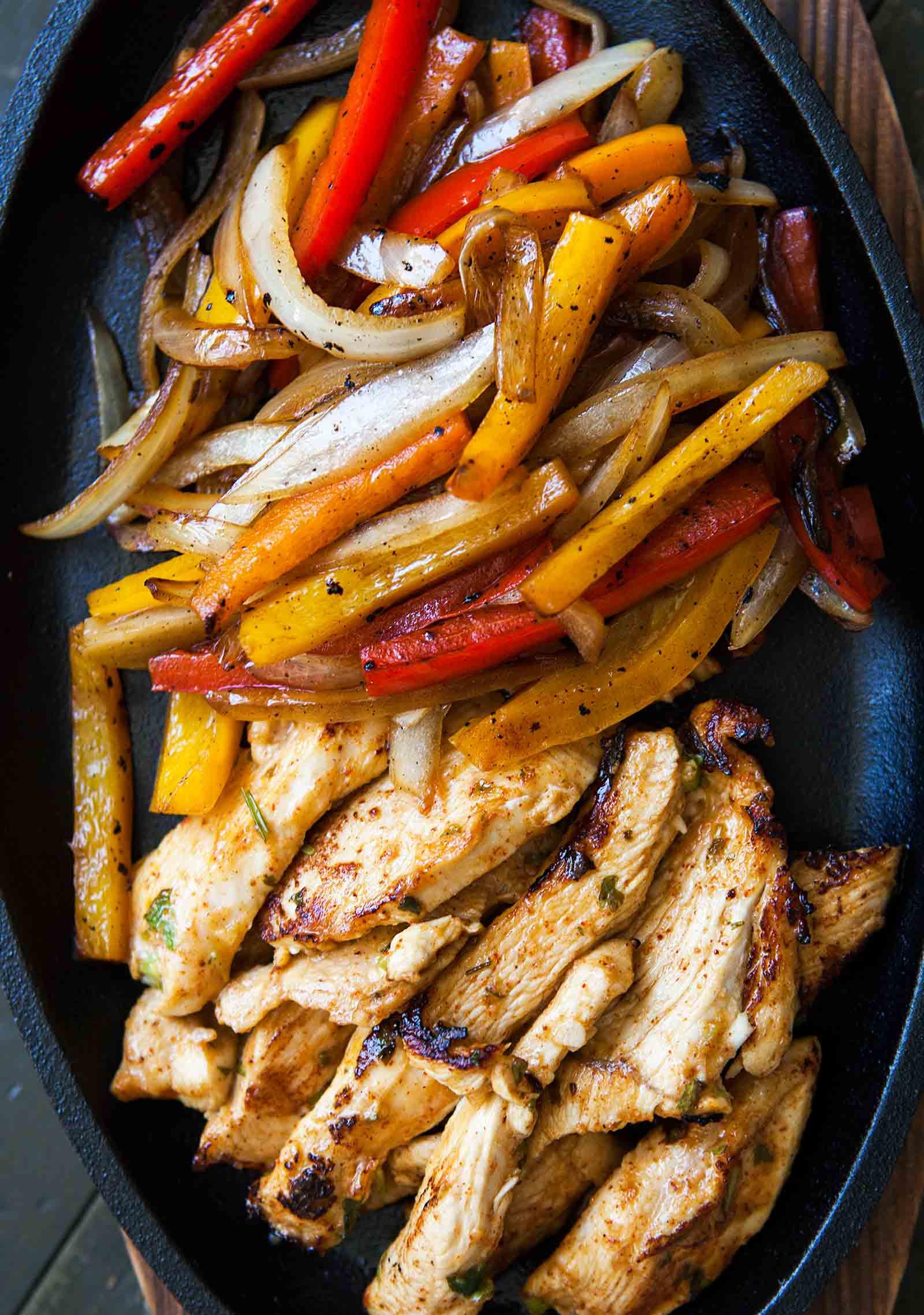 Fajitas Recipe Chicken  Chicken Fajitas Recipe Homemade Marinade
