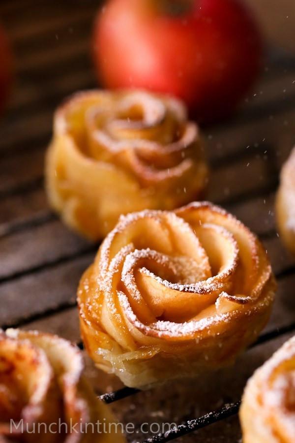 Fall Apple Desserts  Super Easy Apple Roses Dessert Recipe Munchkin Time