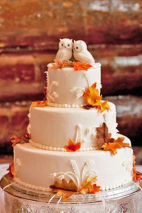 Fall Wedding Cakes  45 Classy And Elegant Wedding Cakes Graceful Inspiration
