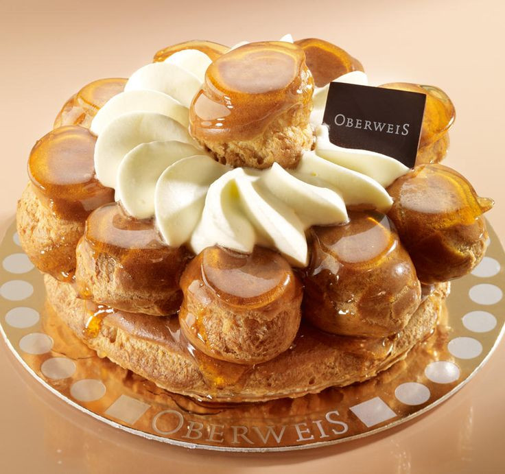 Famous French Desserts  Saint Honoré a famous French pastry made of profiteroles