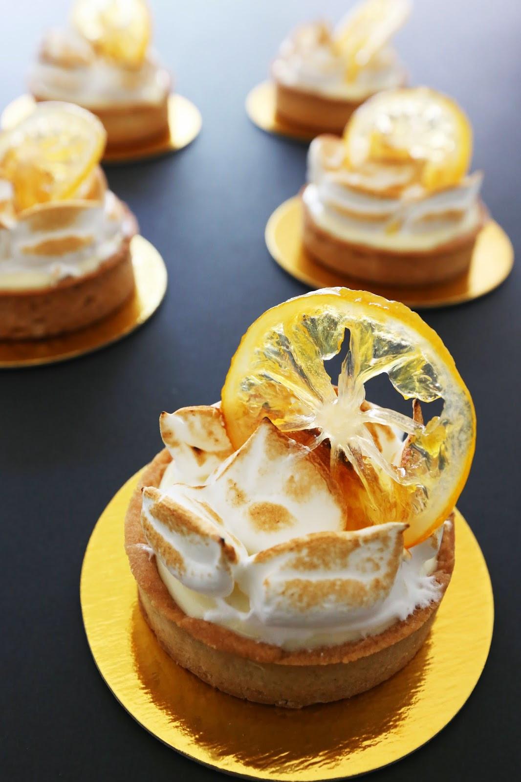 Fancy Dessert Recipes  Gourmet Baking Meyer Lemon Tart with Can d Lemon and Peel
