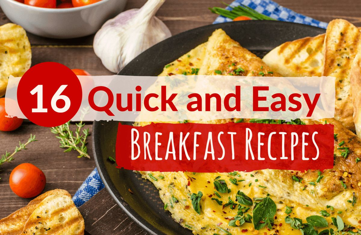 Fast Breakfast Recipes  Quick and Healthy Breakfast Ideas