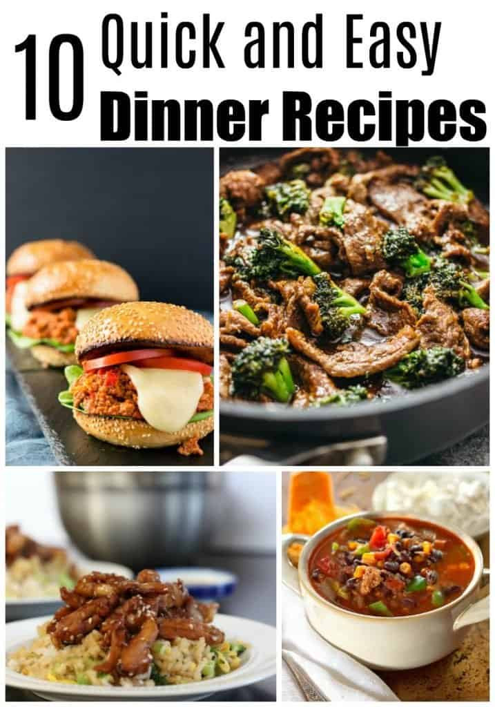 Fast Dinner Ideas  Too Tired to Cook Try These 10 Quick Dinner Recipes lw