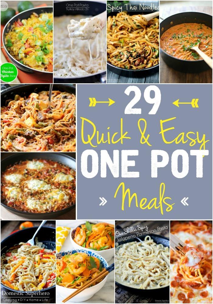 Fast Easy Dinner  29 Quick & Easy e Pot Meals Domestic Superhero