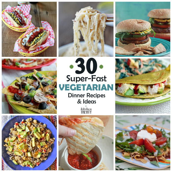 Fast Vegetarian Recipes  30 Super Fast Ve arian Dinner Recipes & Ideas that Take