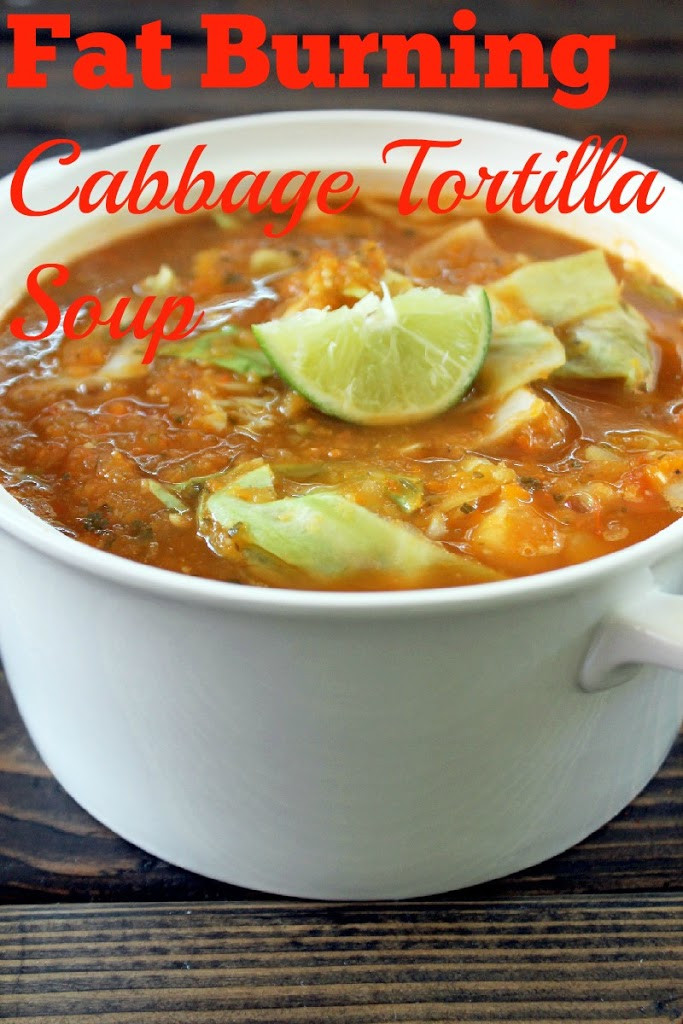 Fat Burning Cabbage Soup  Fat Burning Cabbage Tortilla Soup Not Quite a Vegan