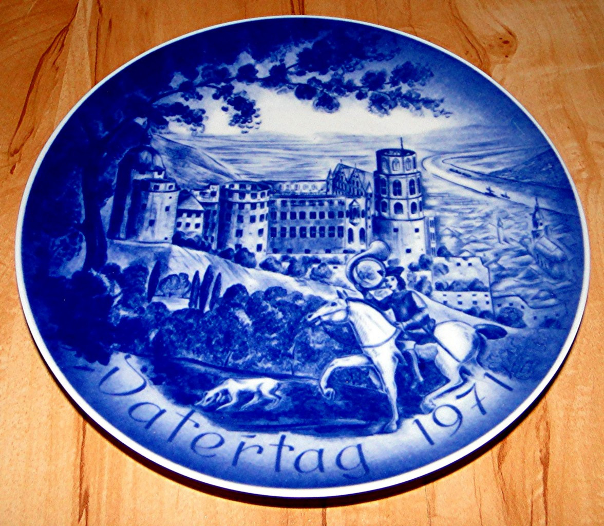 Father'S Day Dinner  1971 Father s Day DATERTAG Castle Heidelberg Plate