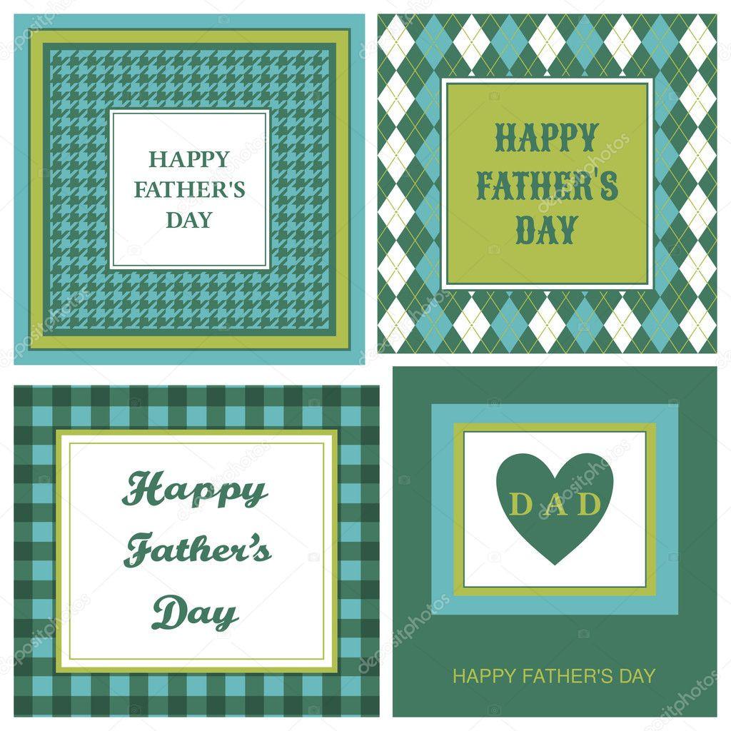Father'S Day Dinner  el da del padre tarjetas de juego — Vector stock