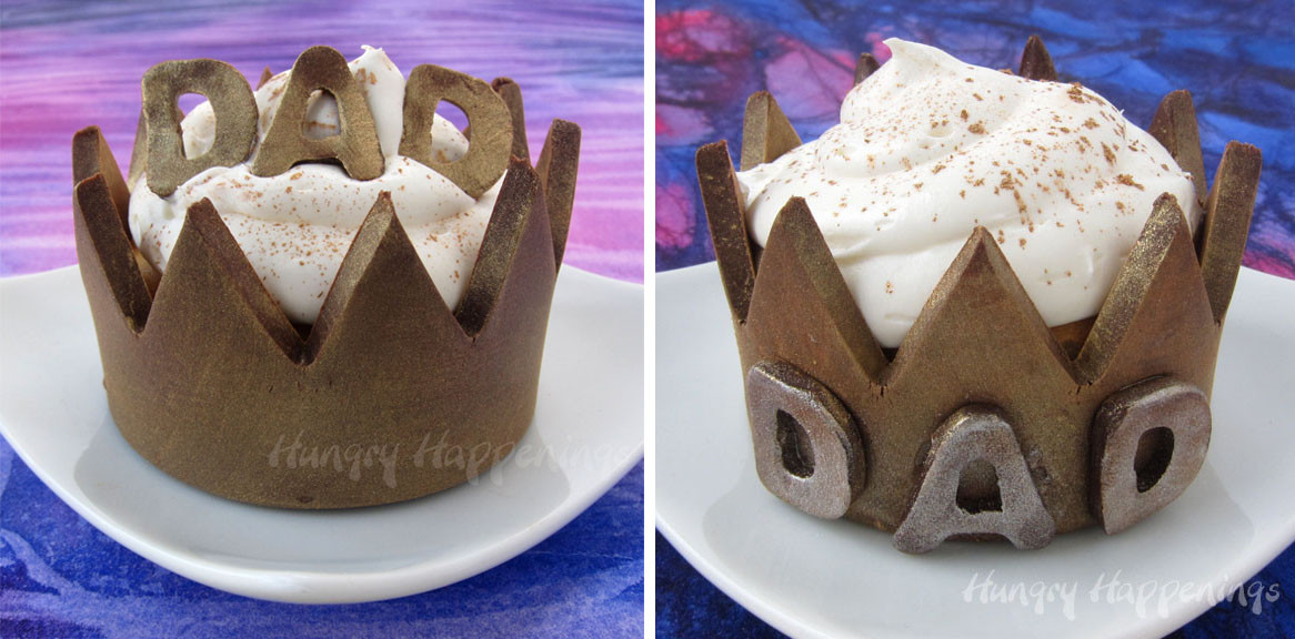 Fathers Day Desserts  Chocolate Cupcake Wrappers Crowns For Father s Day