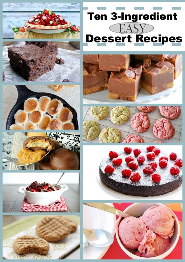 Few Ingredient Desserts  easy cookie recipes for kids with few ingre nts