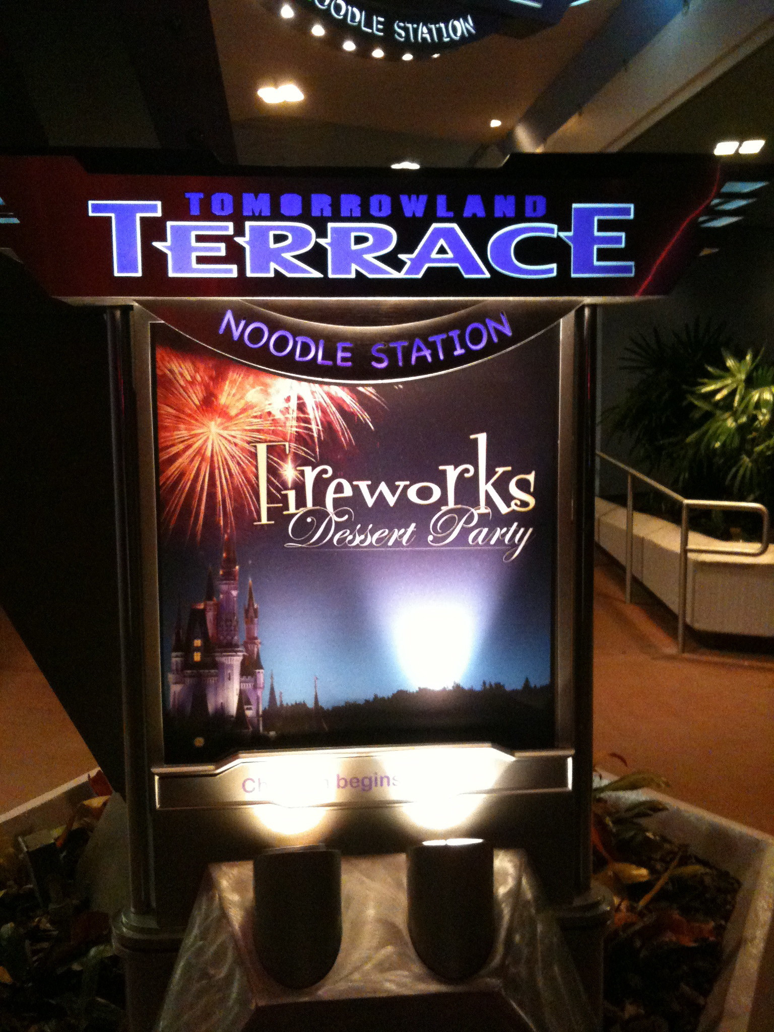 Fireworks Dessert Party At Tomorrowland Terrace  Tomorrowland Terrace Fireworks Dessert Party is Delicious