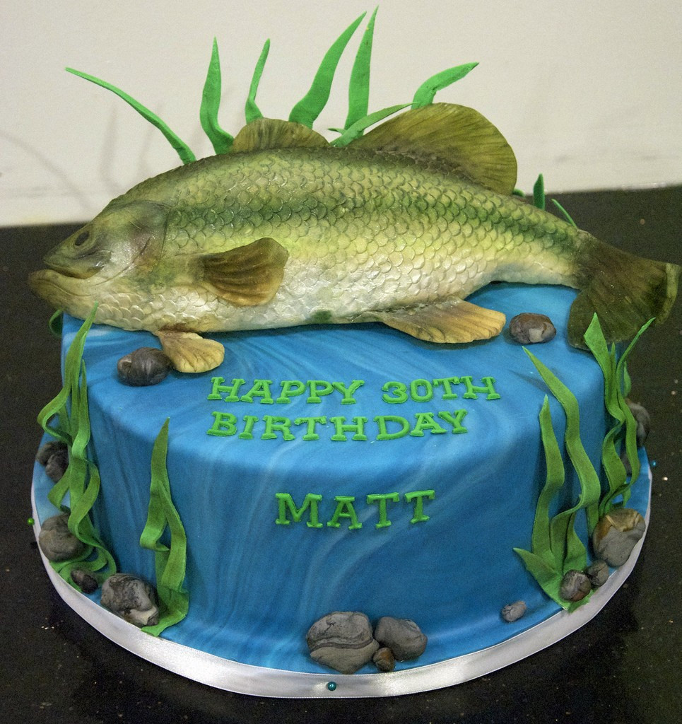 Fish Birthday Cake  15 Fishing or Hunting Themed Cakes to Help Celebrate in Style