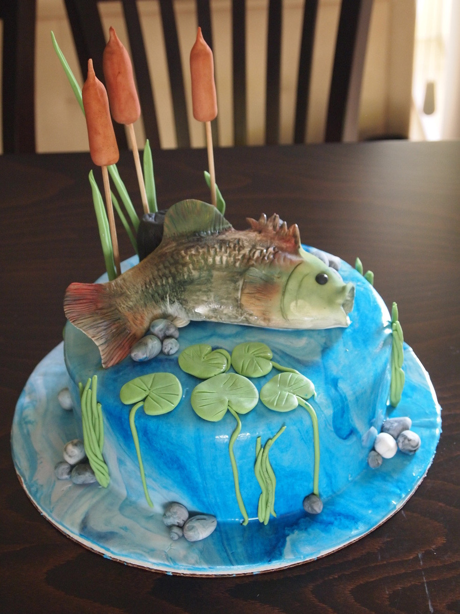Fish Birthday Cake  Cake With Fish CakeCentral