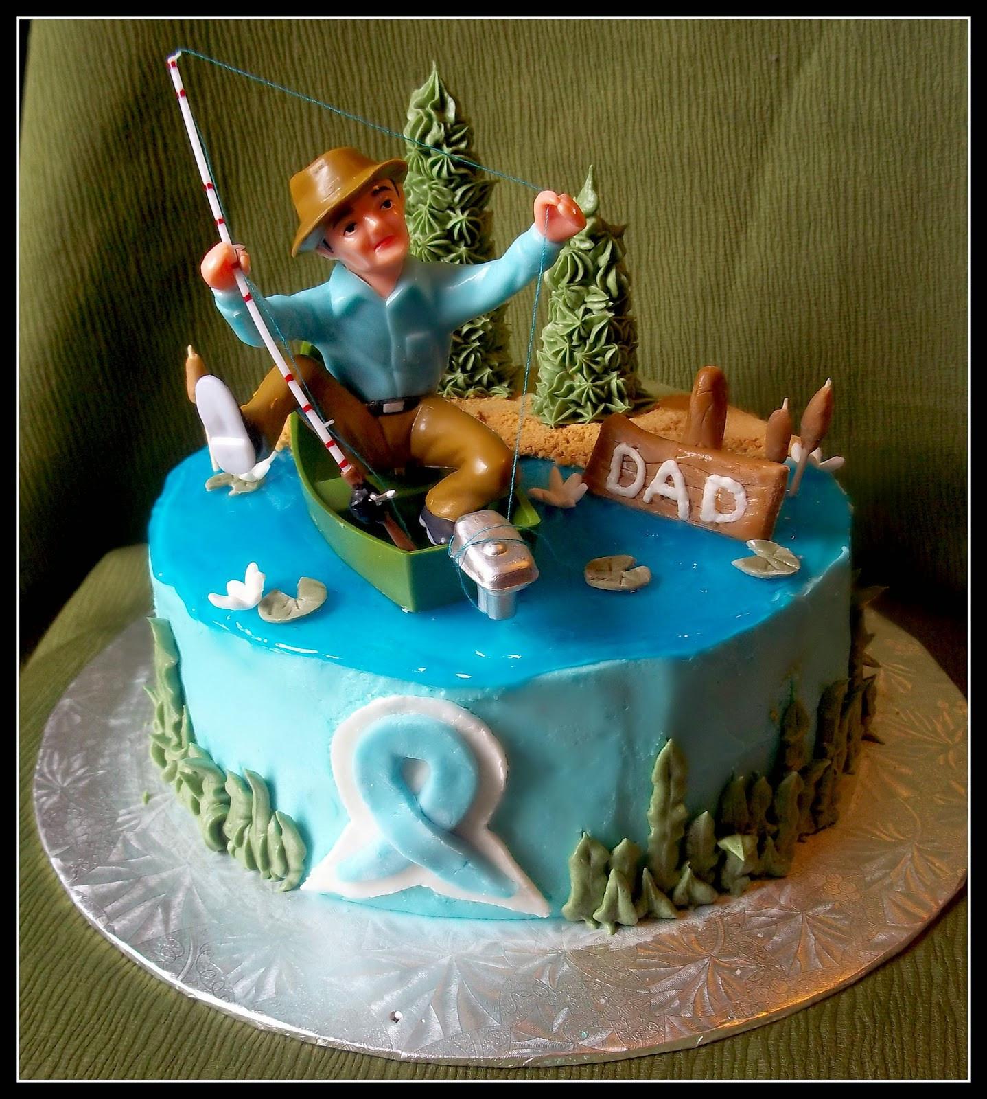 Fish Birthday Cake  Birthday Cake Fishing Cakes Men