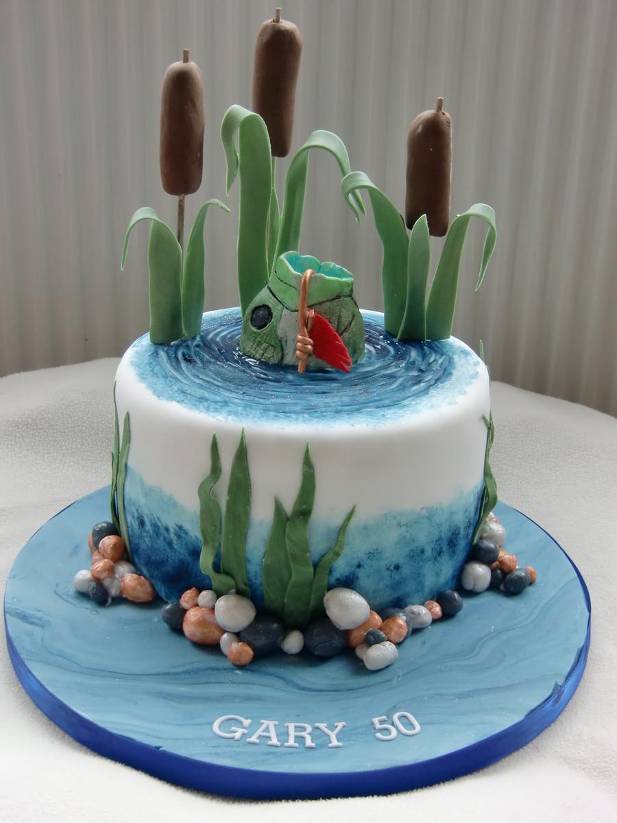 Fish Birthday Cake  Fishing Cake CakeCentral