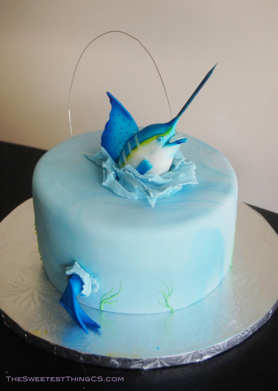 Fish Birthday Cake  Marling Fishing Birthday Cake CakeCentral