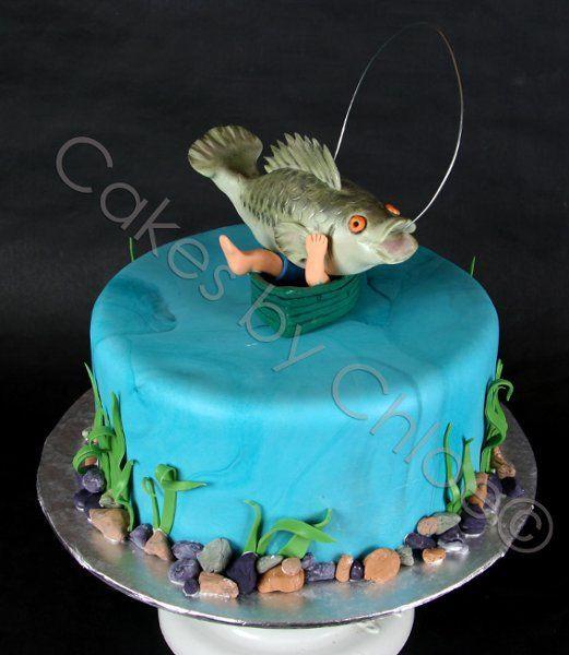 Fish Birthday Cake  Southern Blue Celebrations Fishing Cake Ideas & Inspirations