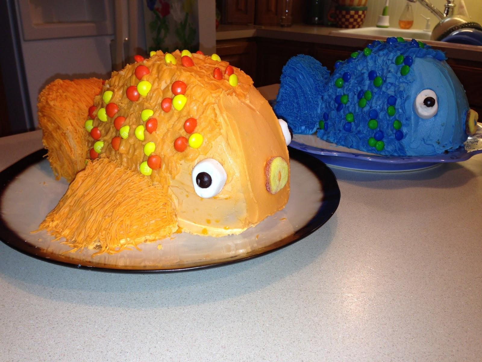 Fish Birthday Cake  True Hope and a Future FISH BIRTHDAY CAKE