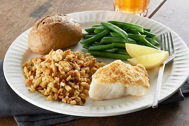 Fish Dinner Recipes  Easy Parmesan Crusted Fish Dinner Kraft Recipes