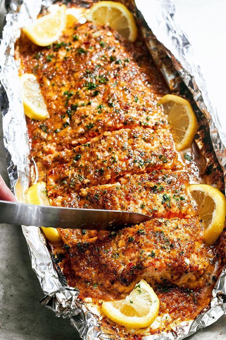 Fish Dinner Recipes  Baked Honey Garlic Salmon in Foil