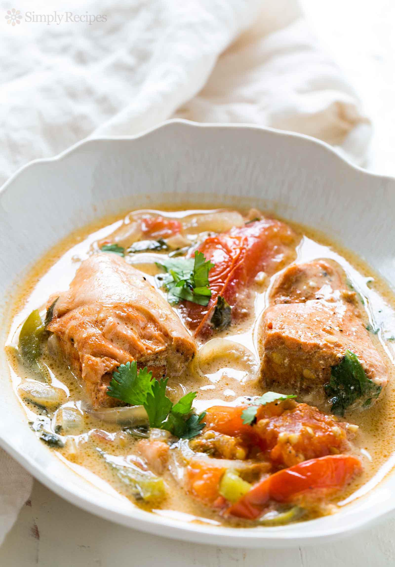 Fish Stew Recipe  Brazilian Salmon Stew Moqueca Recipe