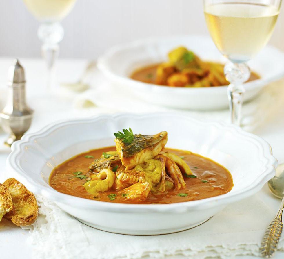 Fish Stew Recipe  Fish stew with roast garlic & saffron recipe