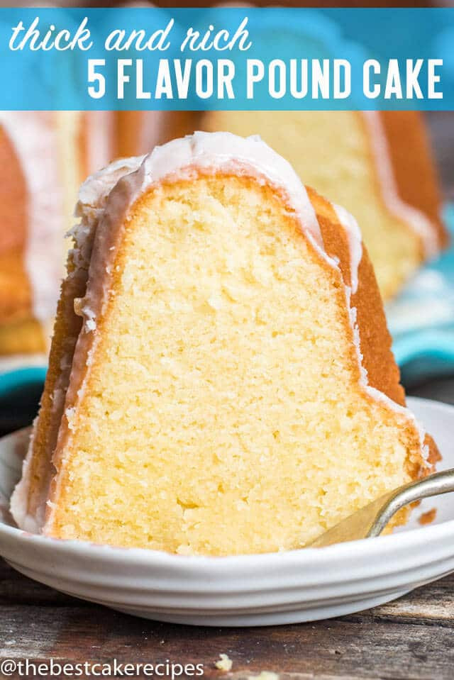 Five Flavor Pound Cake  Five Flavor Pound Cake Recipe with Easy Powdered Sugar Glaze