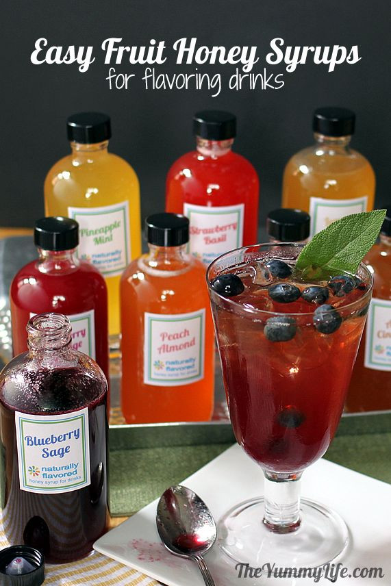 Flavored Syrups For Drinks  8 Fruit and Herb Flavored Honey Syrups For Flavoring Drinks