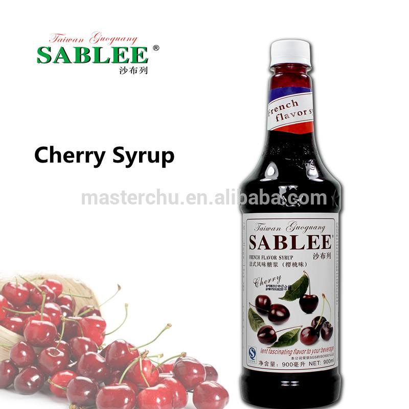 Flavored Syrups For Drinks  Sablee Cherry Flavor Syrup For Cocktail With Halal 900ml