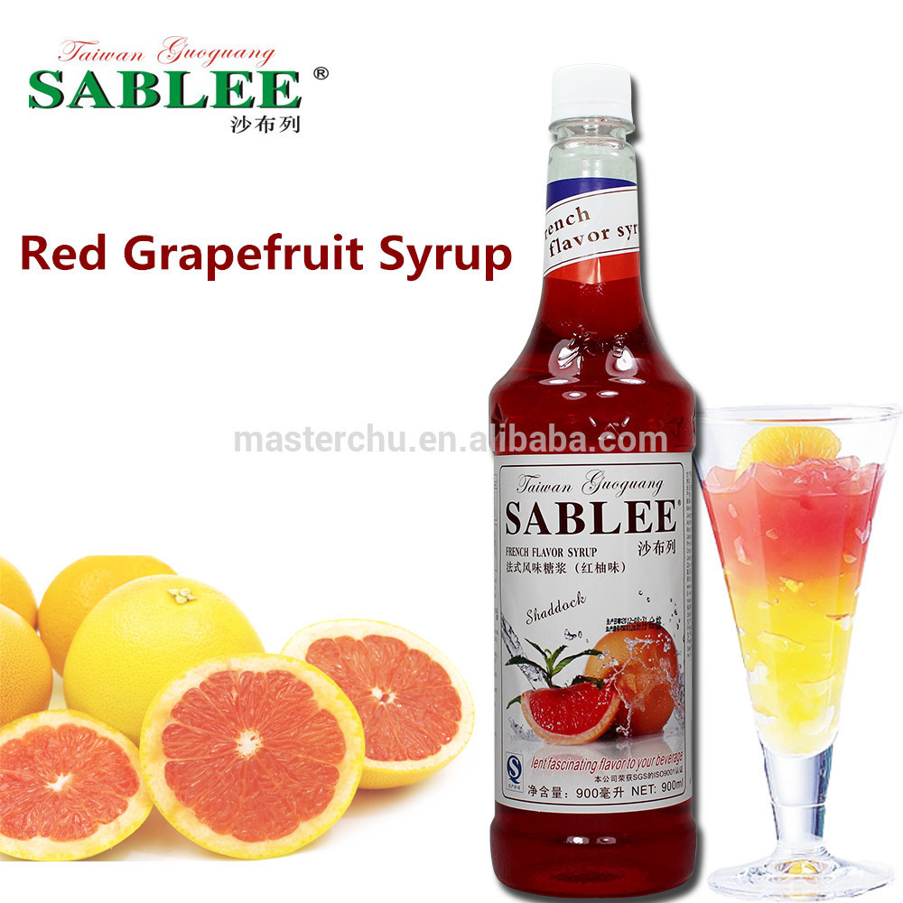 Flavored Syrups For Drinks  Sablee Red Grapefruit Flavor Syrup For Soft Drinks 900ml
