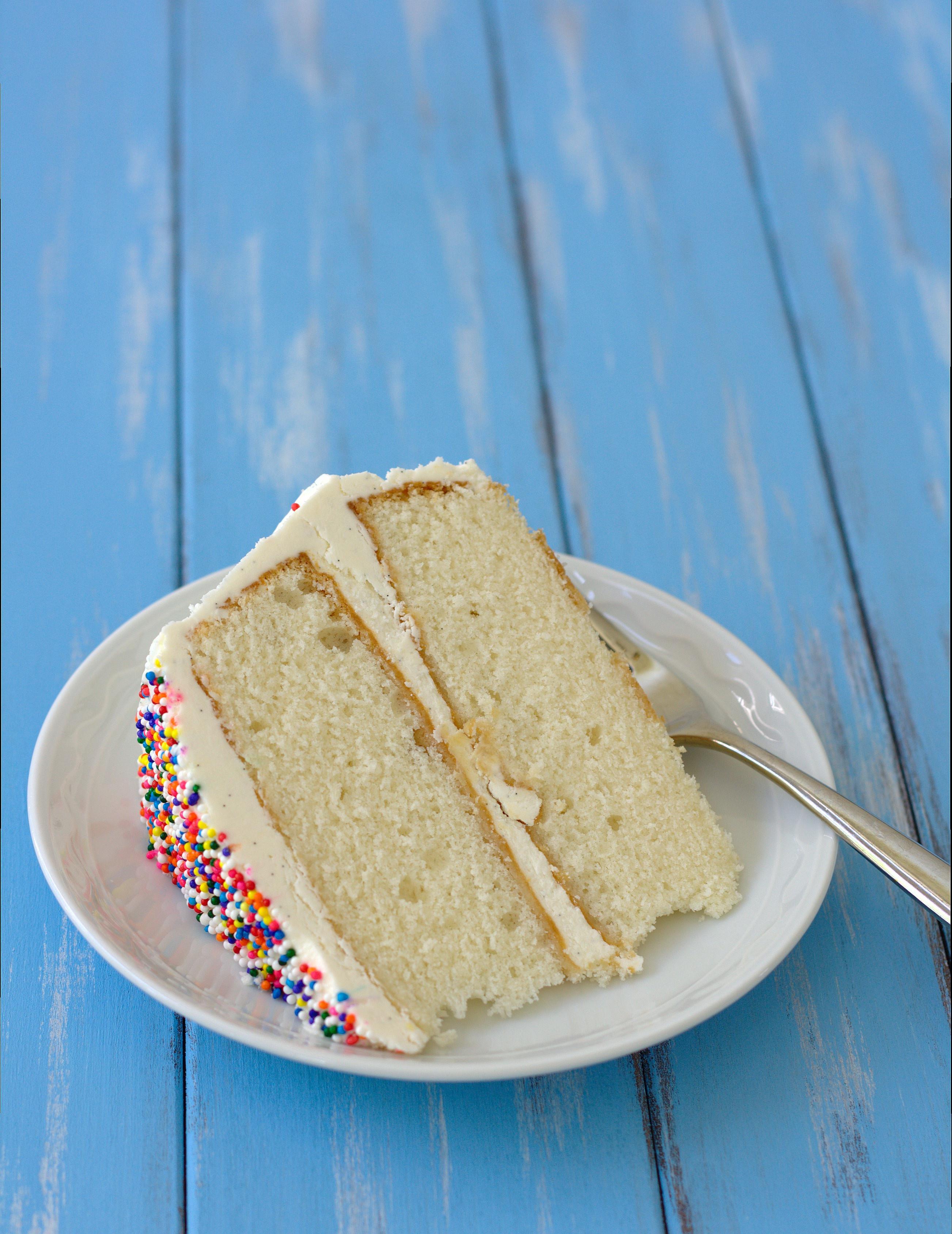 Fluffy Vanilla Cake Recipe  Fluffy Vanilla Cake with Whipped Vanilla Bean Frosting